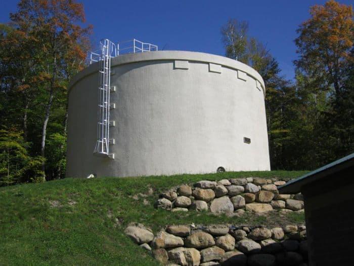 pre-stressed concrete tank