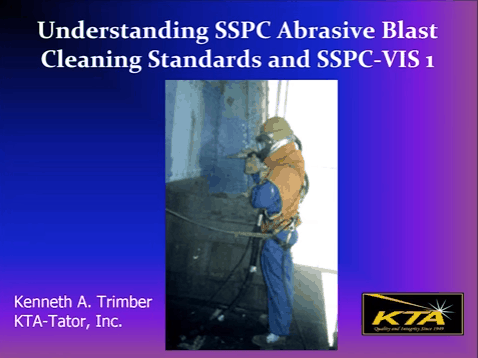 sspc abrasive blast cleaning standards