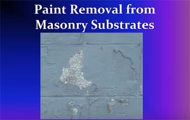 paint removal from masonry substrates