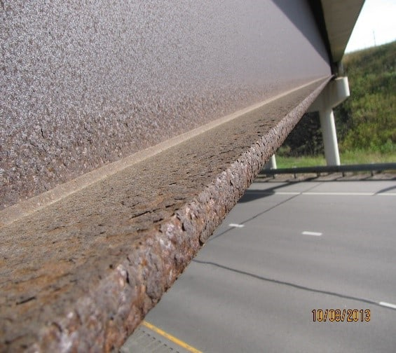 surface profile pitted steel