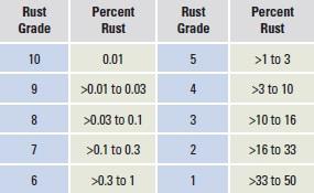 rust grades