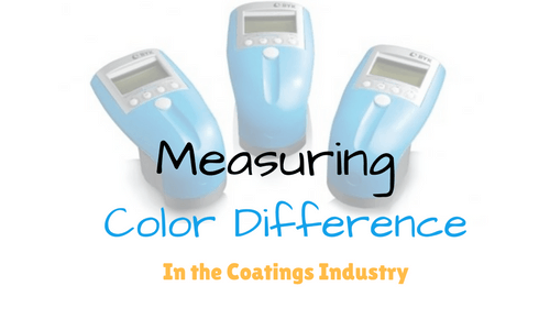 measuring color difference coatings