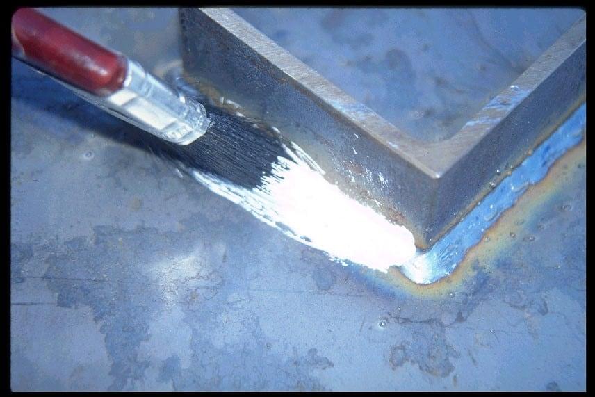 brush application of coating
