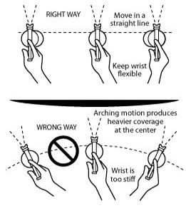 spray gun positioning