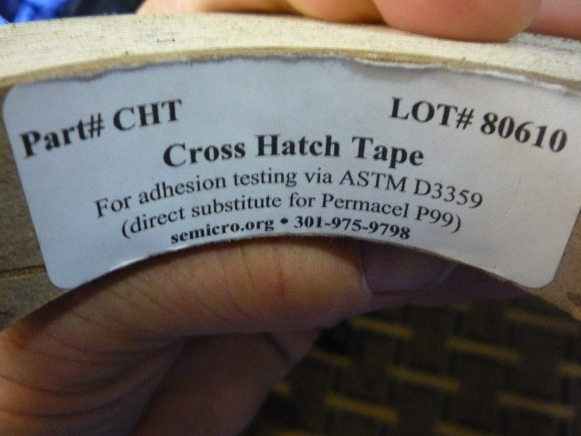 coating adhesion cross hatch tape