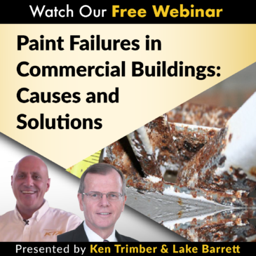 paint failure commercial building coatings webinars