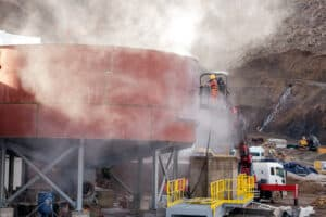abrasive media airborne testing silica beryllium lab testing blasting abrasives testing