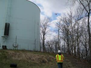 drone coatings inspection uav water tank