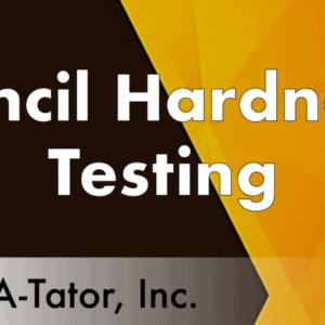 Pencil Hardness Testing